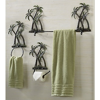 Palm Tree Bath Set This Would Match Perfect Chic Home Decor Accessories Bathroom