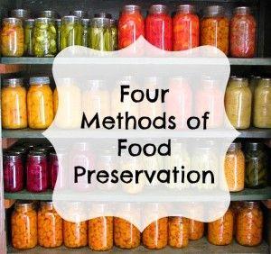 four methods of food preservation