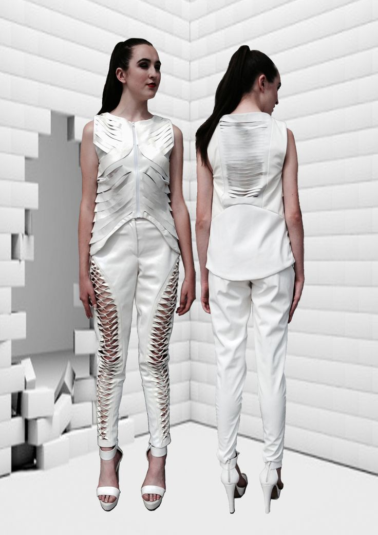 Surasit Liphan # leather cut out #FDS graduate collection.