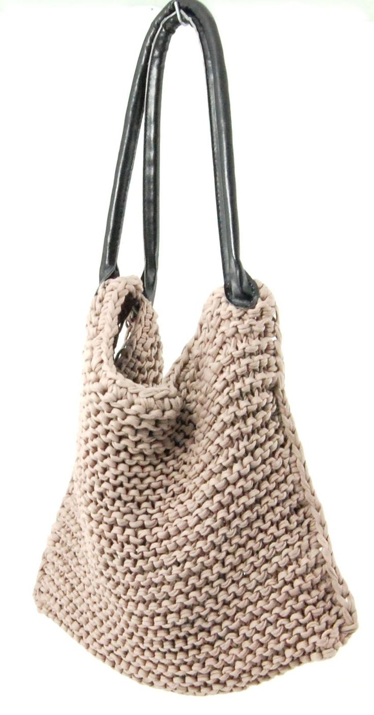 Slouchy knitted bag tutorial