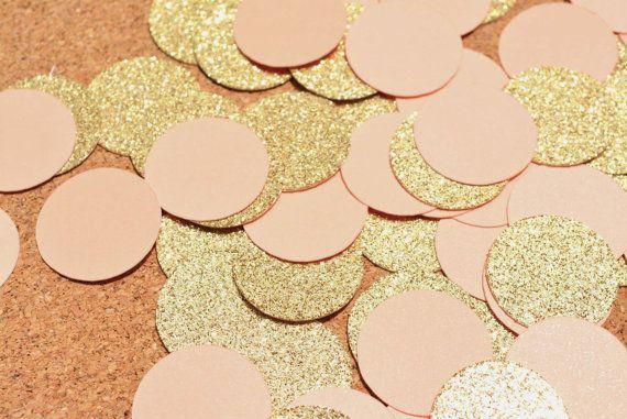 Gold Glitter & Peach Konfetti für Ihr nächstes von PartyMadePretty