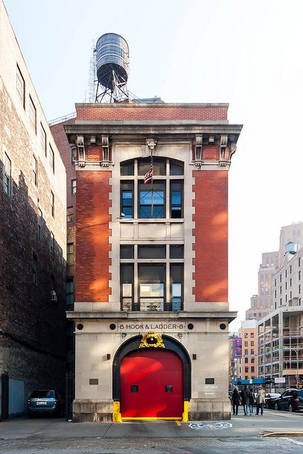 """""""Home of the Ghostbusters""""    Hook & Ladder 8, Tribeca, New York"""