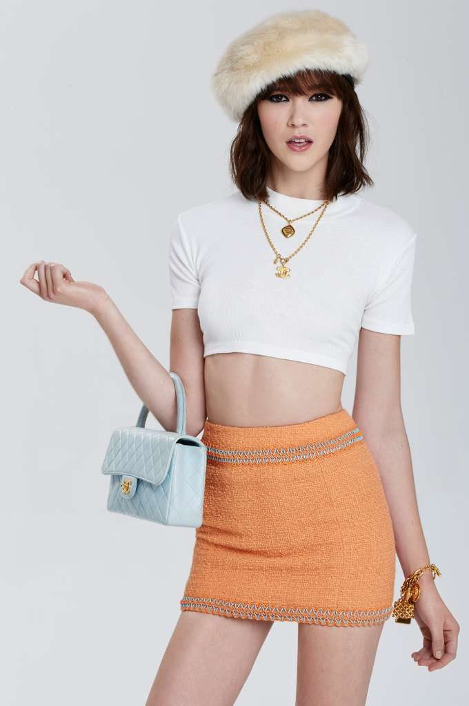 Classic Chanel Isère Bouclé Mini Skirt | Store All at Nasty Gal