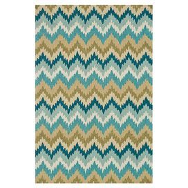 Hand-hooked rug with a chevron-inspired motif.   Product: RugConstruction Material: 100% PolyesterColor: Aqua and greenFeatures: Hand-hookedNote: Please be aware that actual colors may vary from those shown on your screen. Accent rugs may also not show the entire pattern that the corresponding area rugs have.Cleaning and Care: Clean spills immediately by blotting with a clean sponge or cloth. Vacuum carefully without beater bar. Professional cleaning recommended. Rug pad recommended for use…