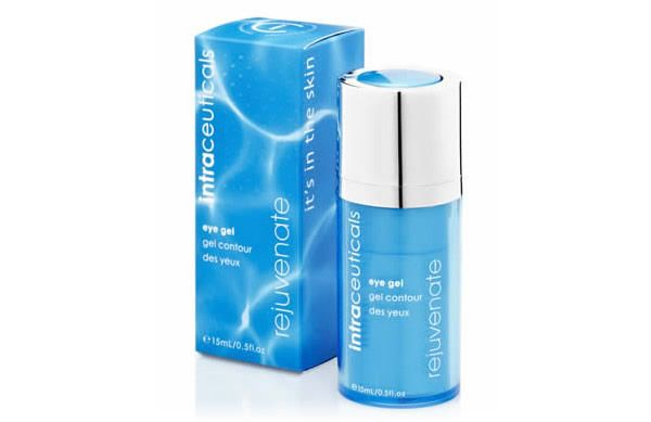 The NEW Intraceuticals Rejuvenate Eye Gel instantly awakens tired eyes with a blend of Hyaluronic Acid, Vitamin and Green Tea Extract.