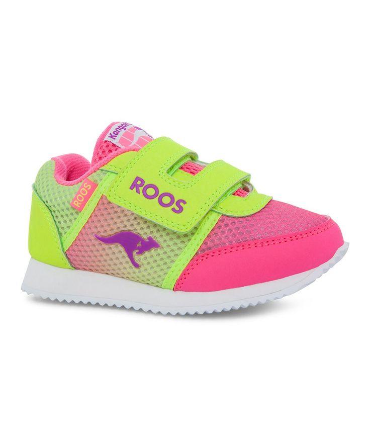Lime & Pink Allegheny Sneaker - Kids