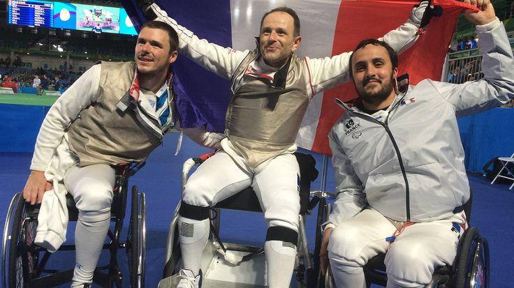 Damien Tokatlian, Ludovic Lemoine,  Maxime Valet - Escrime - France - JO 2016