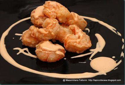 La Piccola Casa: Gamberi mazzancolle croccanti con salsa rosa