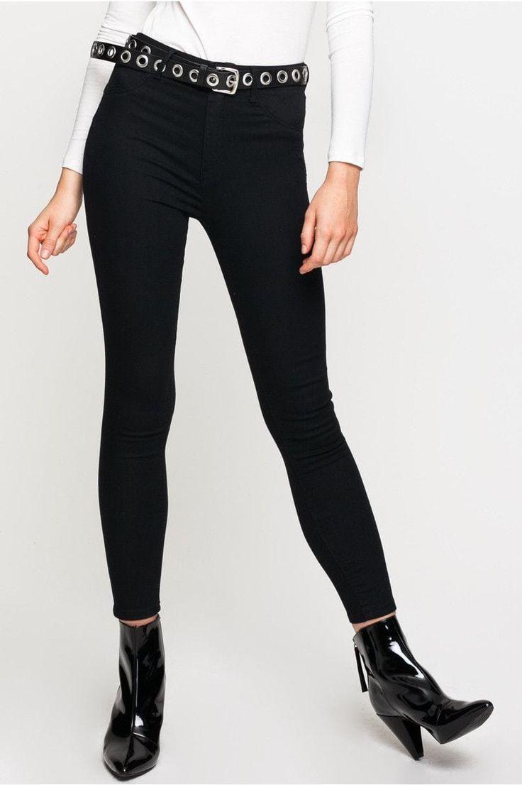 Populaire Oltre 25 fantastiche idee su Pantaloni skinny neri su Pinterest  FJ53