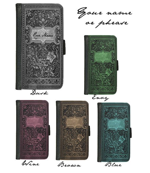 CuSTOMIZED with name or phrase Book of Spells witches grimoire handbook case for iphone 4 4s 5 5s 5c 6 plus Galaxy S3 S4 S5