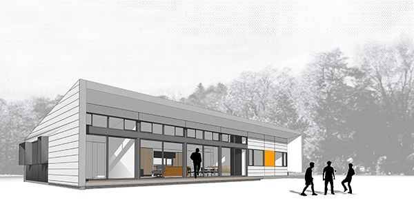 North elevation view of a Design for Place house