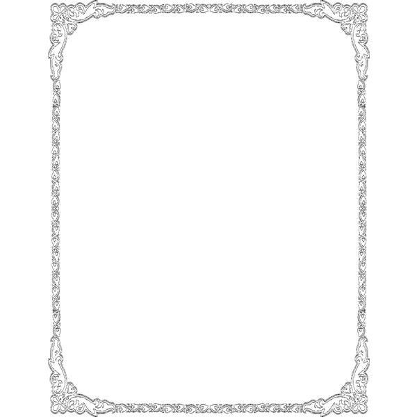 heart deco border frame - public domain clip art image @ wpclipart.com ❤ liked on Polyvore
