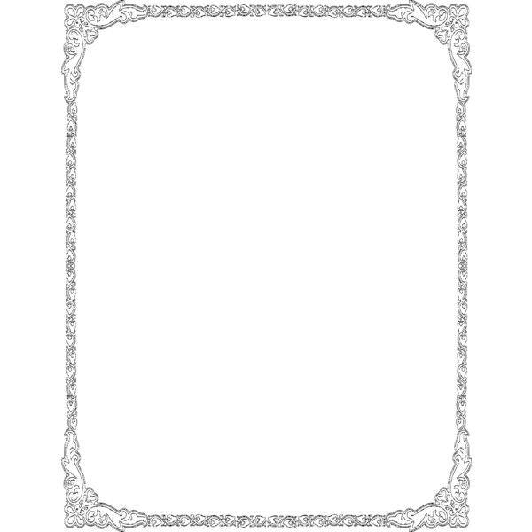 heart deco border frame - public domain clip art image @ wpclipart.com ❤ liked on Polyvore