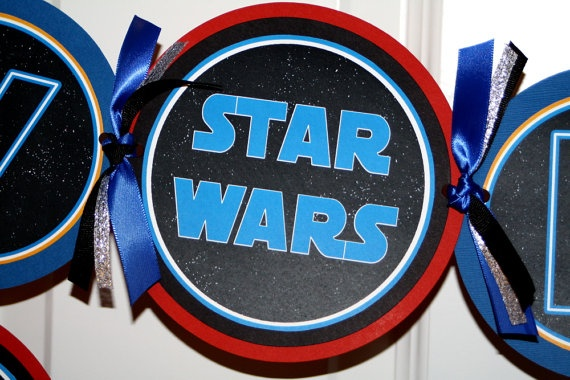 Star Wars Party Banner Blue