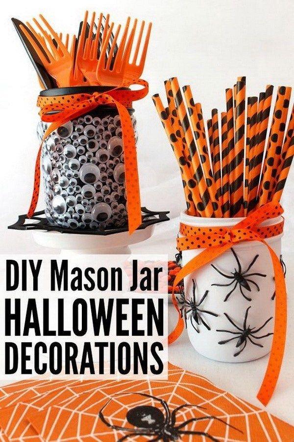 20+ Kreative DIY Einmachgläser für dieses Halloween
