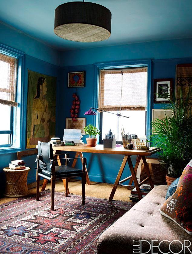 Textile designer John Robshaw's Lower East Side apartment is featured in December's Elle Decor.