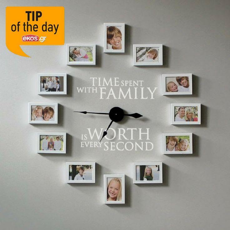 Ψάχνεις μια ξεχωριστή DIY ιδέα διακόσμησης για το σαλόνι σου; Κατασκεύασε ένα τεράστιο ρολόι τοίχου, χρησιμοποιώντας όμορφες οικογενειακές φωτογραφίες!
