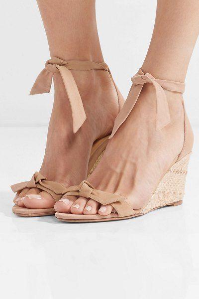 dff3101543 Alexandre Birman clarita bow-embellished suede espadrille wedge sandals. # alexandrebirman #nudeshoes #