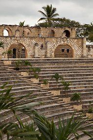 The amphitheater in Altos de Chavon. La Romana, DOMINICAN REPUBLIC