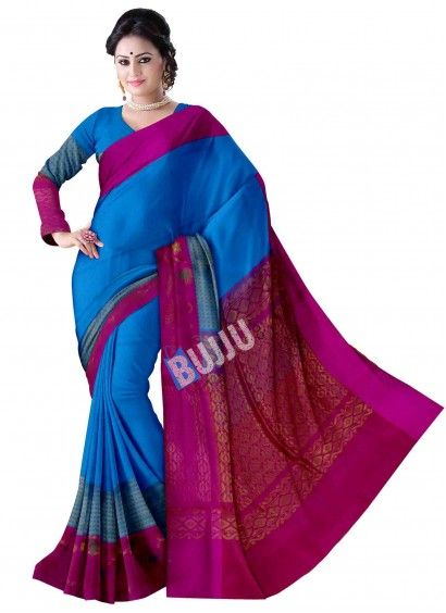 Ananda Blue Uppada Handloom Sico Saree & Blouse Product code: UHUP11S003 Retail price: 8,762/- Sale price : 8,344/-