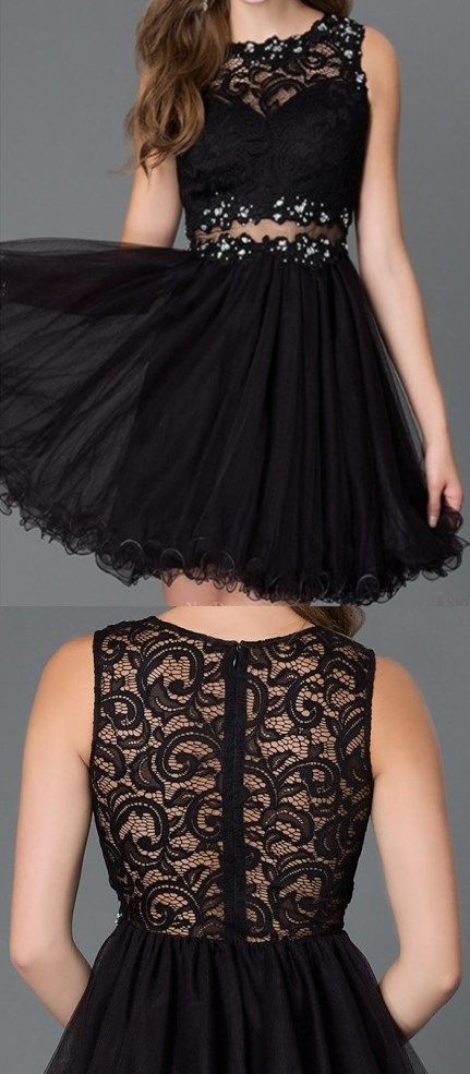 Short Prom Dresses, Sexy Prom Dresses, Classic Beading Sexy Lace Tulle Knee Length Short Prom Party Dresses Cocktail Casual Dresses