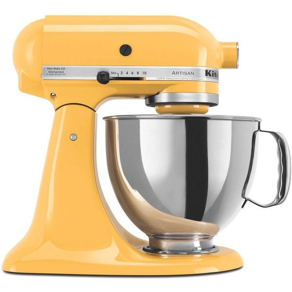 KitchenAid Artisan 5-Quart Tilt Head Stand Mixer #KSM150PS ($380) ❤ liked on Polyvore featuring home, kitchen & dining, majestic yellow and kitchenaid