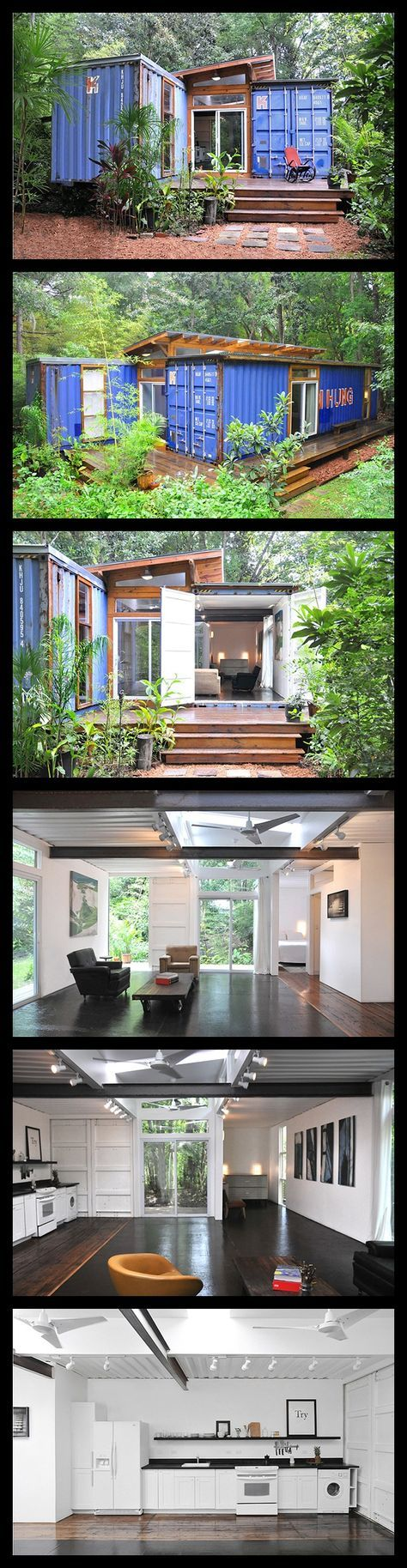 26 best shipping container homes images on pinterest shipping artist builds his home from recycled shipping containers