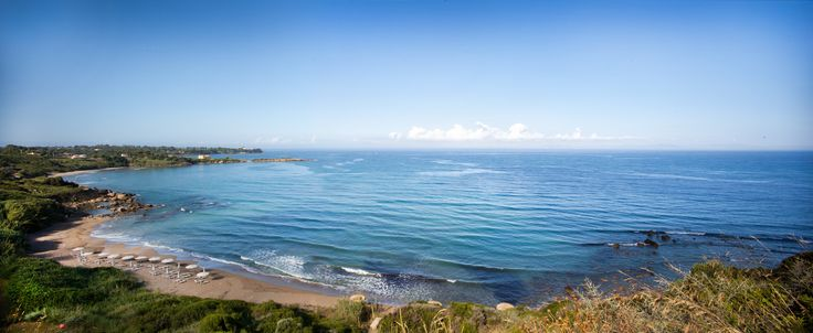 Levendochori beach & Ionian Sea panoramic view from Ploes Villas