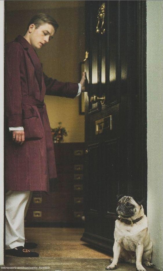 "Gary ""Eggsy"" Unwin (Taron Egerton) in a Turnbull and Asser silk gown and pyjamas for the 2015 film Kingsman: Secret Service #TurnbullandAsser #MadeinEngland"