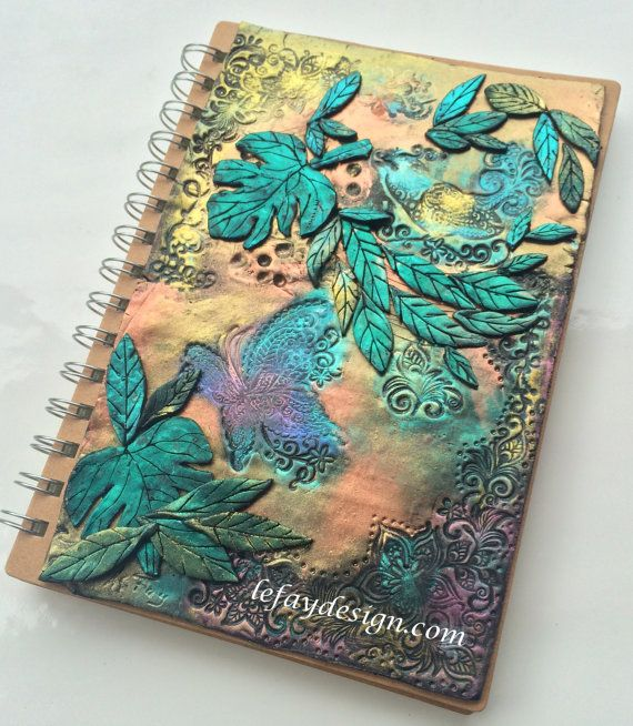 A moment in Nature Polymer Clay Journal / Book by leFayDesign