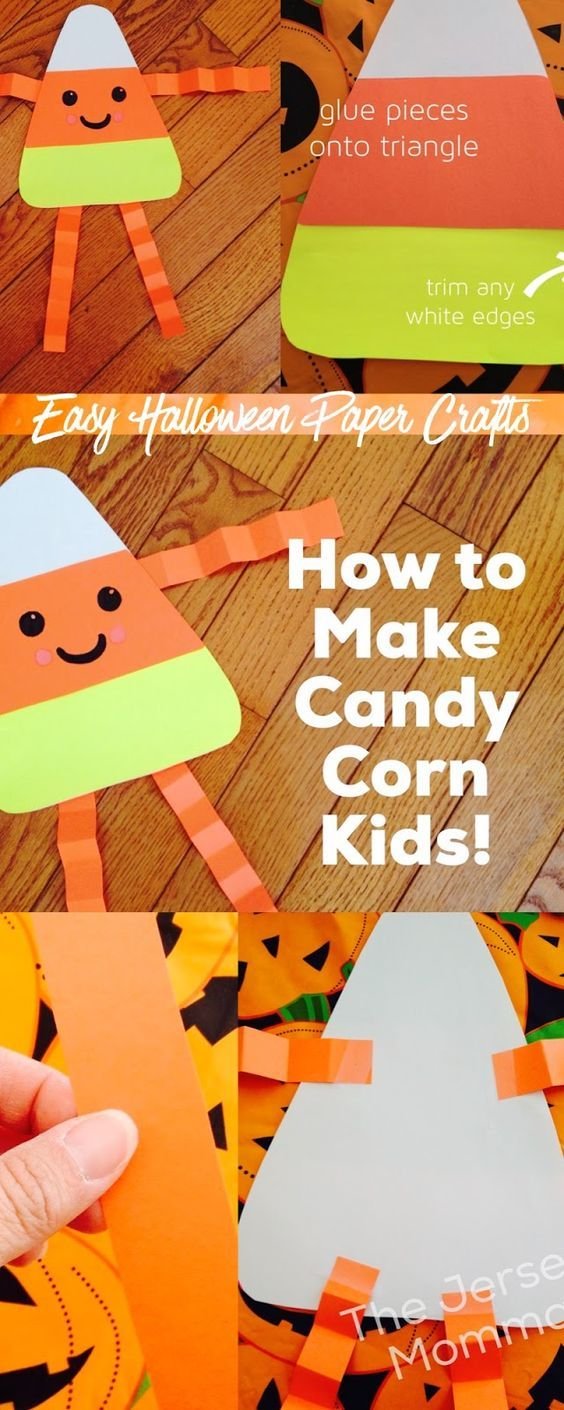 The Ultimate Pinterest Party - Week 169 | The Jersey Momma: Fun Halloween Projects: Candy Corn Kids