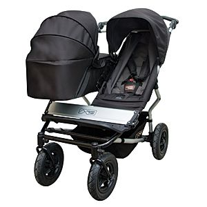 mountain buggy duet- as narrow as a single can hold 2 bassinets, 2 carseats or switch to a single with a basket on the side: Mountainbuggi, Best Double Strollers, Mountain Buggy, Baby Gears, Duet Strollers, Duet Carrycot, Buggy Duet, Kid, Baby Stuff