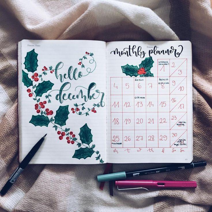 """3,899 Me gusta, 37 comentarios - Bullet Journal & Studygram (@mylittlejournalblog) en Instagram: """"Que mañana damos la bienvenida a Diciembre! que rápido se me ha pasado el año! si aún no tenéis…"""""""