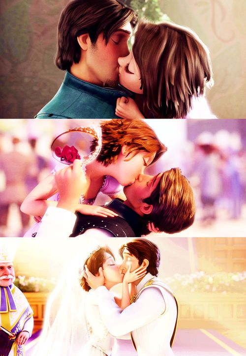 Rapunzle and Flynn's kisses