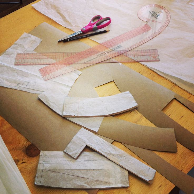 Pattern making in the studio