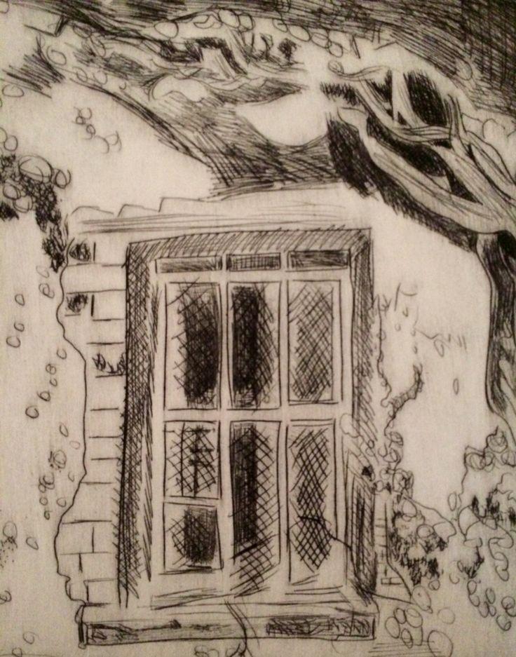 Jo Hannah. Window 6. Etching.