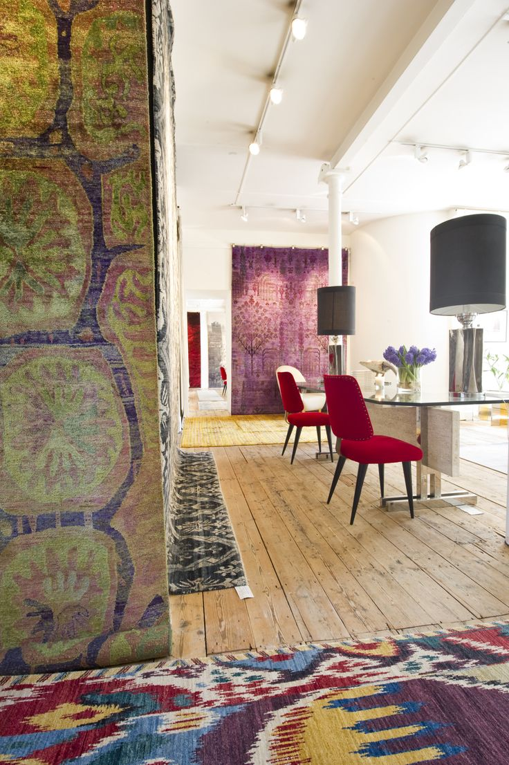 Embrace bold and stunning pattern with a Luke Irwin Enoch or Ikat rug