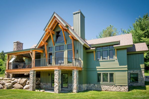 Timber frame homes the marshal timberbuilt timber A frame builders
