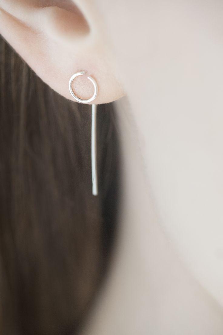 Minimal Earrings with dainty geometric design; simplicity; minimal jewellery // Agata Bielen