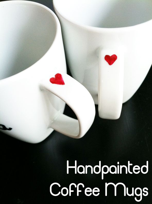 paint the mugs, let them pre heat in the oven (350) bake for an hour and let cool in the oven! Easy Christmas gifts!