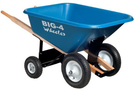 Big 4 Wheeler Heavy-Duty Wheelbarrow, 8 Cubic Feet