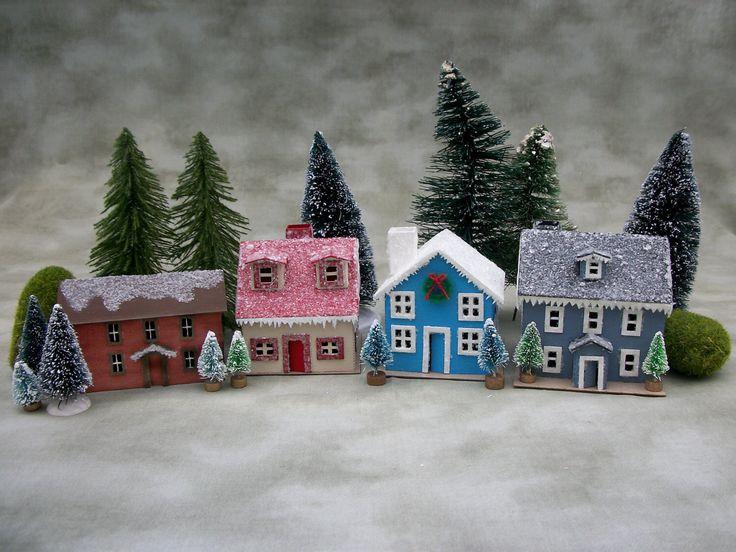 Putz House kit to make 4 houses von AgedWithThyme auf Etsy https://www.etsy.com/de/listing/479218619/putz-house-kit-to-make-4-houses