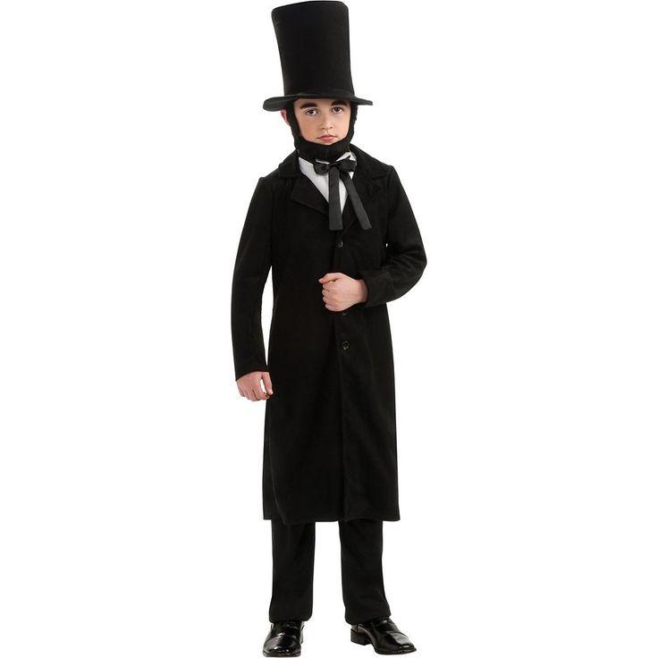 Abraham Lincoln Costume - Kids, Boy's, Size: Medium, Multicolor
