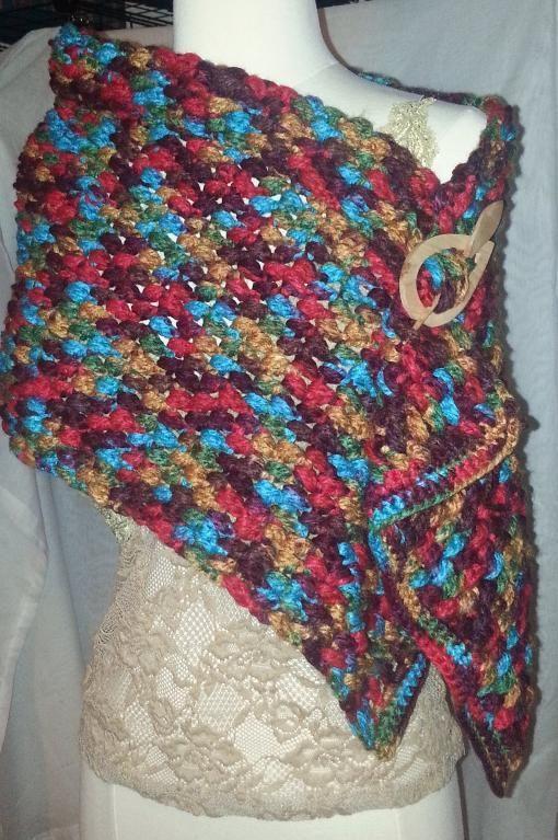 Crochet Shawl - nursing wrap (not fond of the colors ...