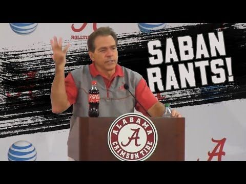 Hilarious mashup video of Nick Saban's best media rants