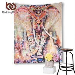 Colorful Elephant Mandala Tapestry