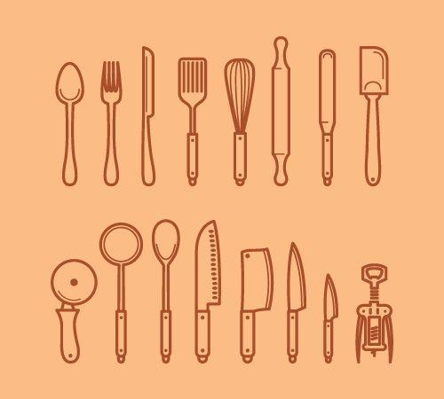 Kitchen tool icons