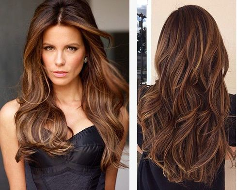rich brunettes with caramel highlights it�s a classic
