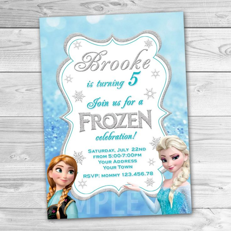 25+ Best Ideas About Frozen Invitations On Pinterest