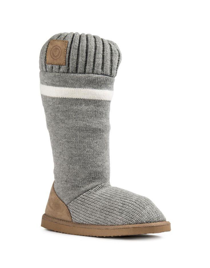 Fleece Knit Boots